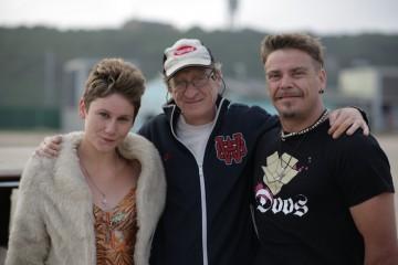 Filmmaker Andrew Worsdale with his actors, Cara Roberts and Brandon Auret