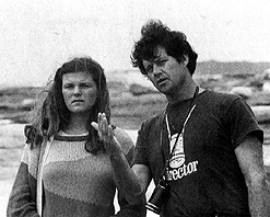 Nell Schofield and Bruce Beresford on location for Puberty Blues