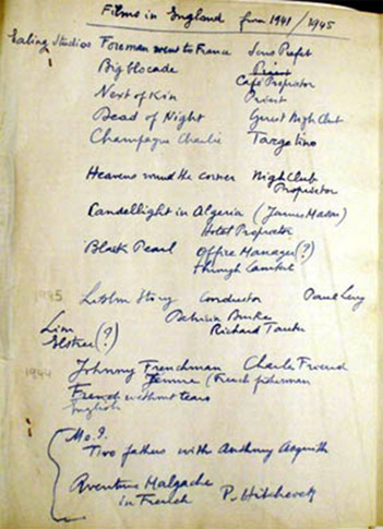 Paul Bonifas' CV. © Henri Dominique Bonifas – Private Collection