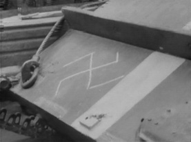 "A swastika drawn on a Soviet tank after the Prague Spring. Image borrowed from ""Prague Spring"" on Wikipedia: The Free Encyclopedia, photographer unknown."