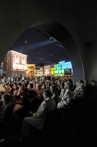 Viewing films in the Piazza Grande at the 61st Locarno International Film Festival