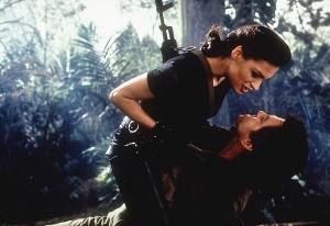 Xenia Onatopp (Famke Janssen) and James Bond (Pierce Brosnan) in GoldenEye