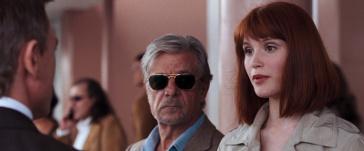 James Bond (Daniel Craig), René Mathis (Giancarlo Giannini) and Strawberry Fields (Gemma Arterton) in Quantum of Solace