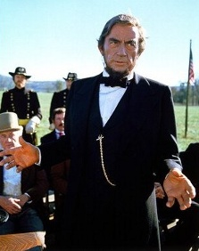 Gregory Peck as Abraham Lincoln in The Blue and the Gray