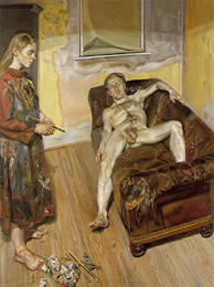 Painter and model (Lucien Freud, 1986/87)