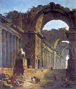 The Fountains (painting by Hubert Robert)