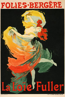 Loïe Fuller at the Folies-Bergère, poster by by Jules Chéret
