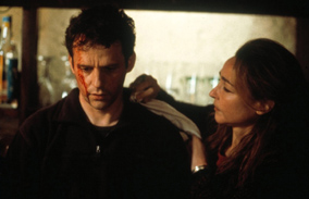 Director Lucas Belvaux as the fugitive in The Trilogy: On the Run