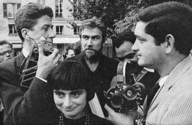 Agnès Varda and Jacques Demy (right)
