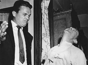 Hammer (Ralph Meeker) is Kiss Me Deadly's quester with no qualms about violence.