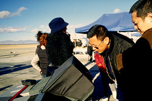 Wong on location for The Follow
