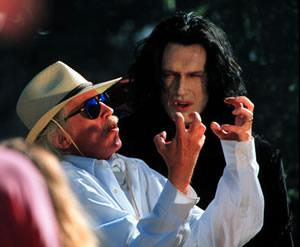 Carpenter on the set of Vampires