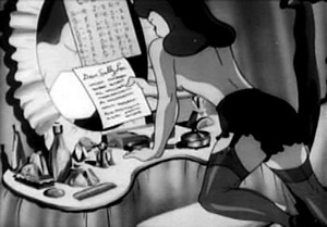 Private SNAFU's girlfriend, Sally Lou, reads his letter in Censored (1944). Warners' animators, especially Tashlin, took full advantage of the servicemen-only audience: there was never such blatant pulchritude in a standard Looney Tunes film.
