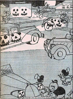 A Van Boring cartoon from October 31, 1935
