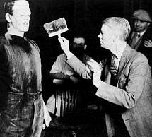 Whale on the set of Frankenstein